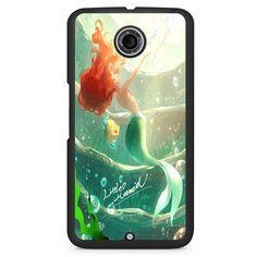 Ariel Little Mermaid Watercolor Phonecase Cover Case For Google Nexus 4 Nexus 5 Nexus 6