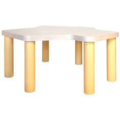"""Table for Shirley Jackson, AQQ Design for Kinder Modern Children's Play Table This is an exclusive kinder Collaboration with Matthew Sullivan of AQQ Design out of Los Angeles, California.   2 leg heights for child growth: 16"""" h & 24"""" h"""