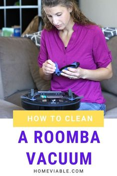 Discover how to clean your Roomba vacuum filter and brushes. This guide helps keep your robotic vacuum cleaner free of clutter. #homeviable #cleanroomba #roombavacuum #roboticvacuum