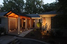 This is a night shot of a porch we build in Bloomfield Twp near Lahser & Long Lake Rd.