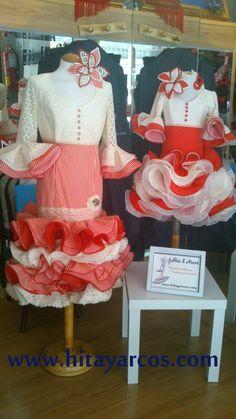 Conjunto rociero falda y camisa para niña. Traje de gitana flamenca ... f6f6654d7e8