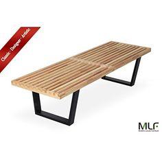 MLFネルソンベンチ 100%無垢木造り(152cm)