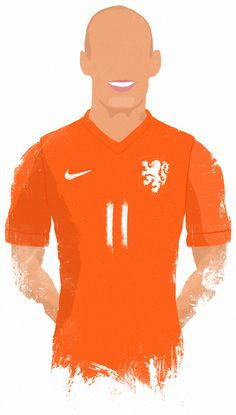 World Cup 2014 Stars - Robben. My illustration collection.