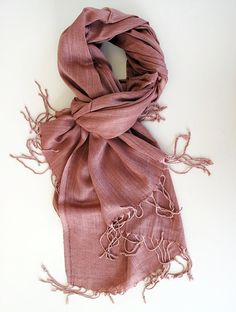 Dusty Salmon Soft Cotton Summer Scarf Natural by ScarfLovers 6df5c2b59f