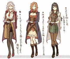 by Hidari Female Character Design, Character Design References, Character Design Inspiration, Character Concept, Character Art, Fantasy Characters, Female Characters, Atelier Series, Fantasy Dress
