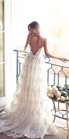 Wonderful Perfect Wedding Dress For The Bride Ideas. Ineffable Perfect Wedding Dress For The Bride Ideas. Lurelly Bridal, Boho Stil, Dream Wedding Dresses, Gown Wedding, Ivory Wedding, Wedding Dress Straps, Backless Wedding Dresses, Vintage Wedding Dresses, Prettiest Wedding Dress