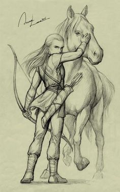 Love horse... And Legolas
