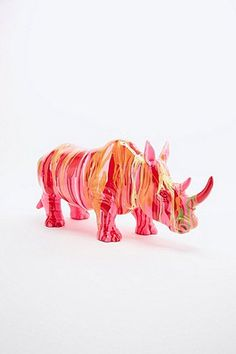 Shop Kare Rhino Figurine in Pink at Urban Outfitters today. We carry all the latest styles, colours and brands for you to choose from right here. Urban Outfitters, Color Pop, Colours, Artist, Pink, Objects, Joy, Interior, Happy