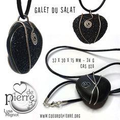 Galets peints Salat et Garonne - pendentif cœur - www.coeurdepierre.org