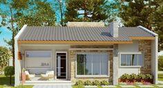 Planos de casas para terreno angosto de 1 piso y 2 dormitorios