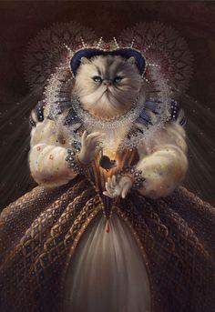 I Imagine Cats As Historical People | Bored Panda