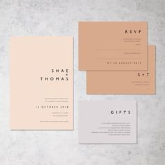 The ultimate in modern minimalist stationery. Simple yet effective : The ultimate in modern minimalist stationery. Simple yet effective Minimalist Wedding Invitations, Simple Wedding Invitations, Wedding Invitation Design, Wedding Stationery, Minimalist Invitation, Wedding Branding, Modern Invitations, Letterpress Wedding Invitations, Invitation Wording