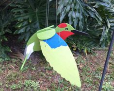 White Seagull Flying Hanging Mobile by WoodyRobcrafts on Etsy