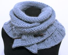 Snow Scarf || Jumper Cables Knitting || #freepattern