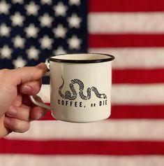 Black Rifle Coffee - Grab an enamel mug & drink to freedom! www.blackriflecoffee.com!  #AmericasCoffee #BlackRifleCoffee