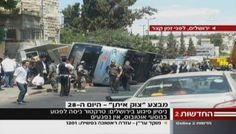 Terror returns to Jerusalem: Industrial digger strikes bus and car