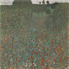 """""""Poppy Field"""" - Gustav Klimt (1907), Osterreichische Galerie Belvedere, Vienna"""