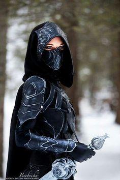 the Black Huntress's armor. -hehehehe-