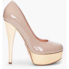 ALEJANDRO INGELMO Sand Sophia Pumps ...patent platform in blush <3
