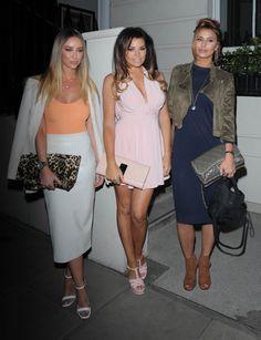 Lauren Pope & Billie Faiers night out in London