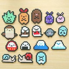 Perler Bead Designs, Perler Bead Templates, Hama Beads Design, Perler Patterns, Pokemon Perler Beads, Diy Perler Beads, Perler Bead Art, Pearler Beads, Pixel Beads