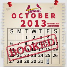 Your October? BOOKED!