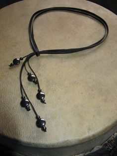lanyard type necklace with beads