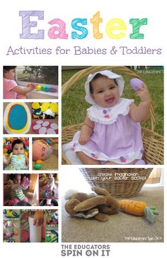 Easter is just around the corner. Here are some fun Hands On Activities, Crafts, Books and Sign Language for your Baby or Toddler to enjoy for Easter! This easy baby easter activities and crafts will keep your little Easter Activities For Toddlers, Easter Crafts For Kids, Holiday Activities, Infant Activities, Toddler Crafts, Craft Activities, Easter Ideas, Activity Ideas, Easter Recipes