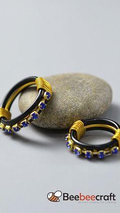 Diy Beaded Rings, Wire Jewelry Rings, Wire Jewelry Designs, Handmade Wire Jewelry, Diy Crafts Jewelry, Wire Wrapped Jewelry, Beaded Jewelry, Vintage Jewelry, Diy Rings Easy