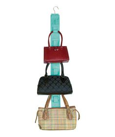 Look what I found on #zulily! Turquoise Handbag Hangup Double-Sided Purse Organizer #zulilyfinds