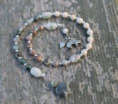 Bear Totem Herb Master Pagan Prayer Beads by inkleing on Etsy, $24.50