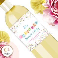 Sprinkle Label  Baby Shower Label  Sprinkle by GardeniaLabels