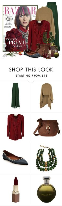 """""""Brown, Green & Maroon"""" by dgia ❤ liked on Polyvore featuring BY. Bonnie Young, Madeleine Thompson, Gucci, Børn, Valentino, Castlecliff, Fashion Fair and Catherine Malandrino"""