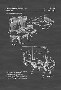 Airplane Seat Patent - Vintage Aviation Art, Airplane Art, Pilot Gift,  Aircraft Decor, Airplane Patent, Aviation Patent #patentartvintage