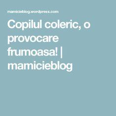 Copilul coleric, o provocare frumoasa!   mamicieblog