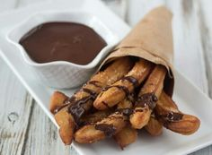 Churros and Chocolate Sauce uploaded by Trang Lê #chocolate #churros #yummy #FOOD #chocolate #food #churros #Dessert #yummy #delicious #F4F #followback #cake
