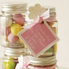 Personalised Thank You Sweetie Jars by Tailored Chocolates and Gifts