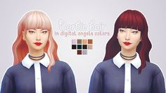 Just a simple simblr. - Barbie hair made by @habsims in the digital angels...