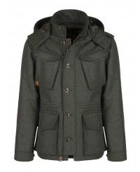 Barbour Men's Kemble Wool Jacket - Olive MWO0208OL52