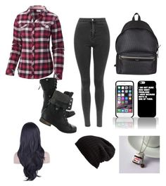 """zBoring School day"" by madisonpearl on Polyvore featuring Columbia, Yves Saint Laurent and Free People"
