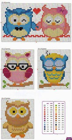 Owls cross stitch