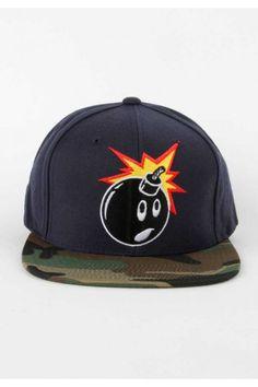 The Hundreds Clothing Adam Camo Snapback Hat - Navy  30.00  thehundreds Guy  Fashion d12b99ec29e2