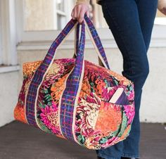 Cherie Killilea Duffle Bag Kit - Sewing Kit includes Fabric & Pattern!