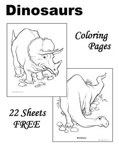 Dinosaur Coloring Pages | Easy peasy, Easy and Free printable