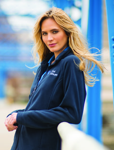 Get that warm and fuzzy feeling with this Microfleece jacket. Great for any outdoor activity. Easy to embroider.