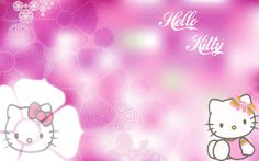 Attachment For Pink Hello Kitty Cute Character Wallpaper  Produced By