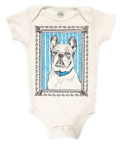 Look at this Loop Collection Cyan French Bulldog Organic Bodysuit - Infant on #zulily today!