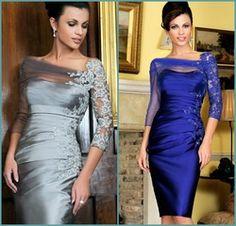 Online Shop New Gorgeous Knee Length Plus Size Mother of the Bride Dress With Jacket Bolero Woman Sliver Blue Lace Vestidos de madrinha Aliexpress Mobile