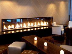 a long gas fireplace | Long Gas Fireplaces Modern