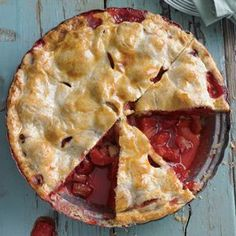 Tangy Rhubarb-Strawberry Pie. Must. Make. Now.